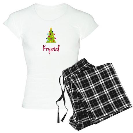Christmas Tree Krystal Women's Light Pajamas