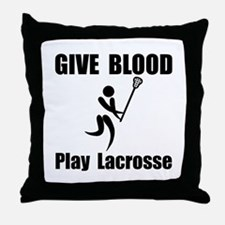 Lacrosse Give Blood Throw Pillow