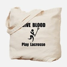 Lacrosse Give Blood Tote Bag