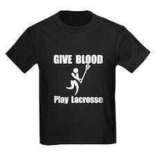 Lacrosse Give Blood T