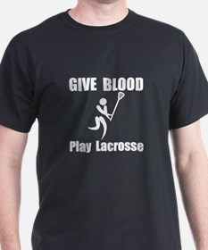 Lacrosse Give Blood T-Shirt