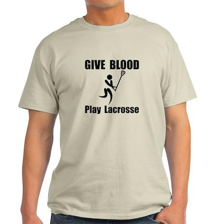 Lacrosse Give Blood Light T-Shirt