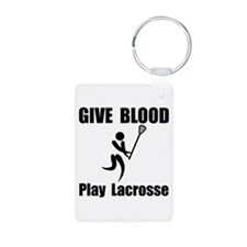 Lacrosse Give Blood Keychains
