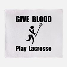 Lacrosse Give Blood Throw Blanket