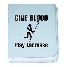 Lacrosse Give Blood baby blanket