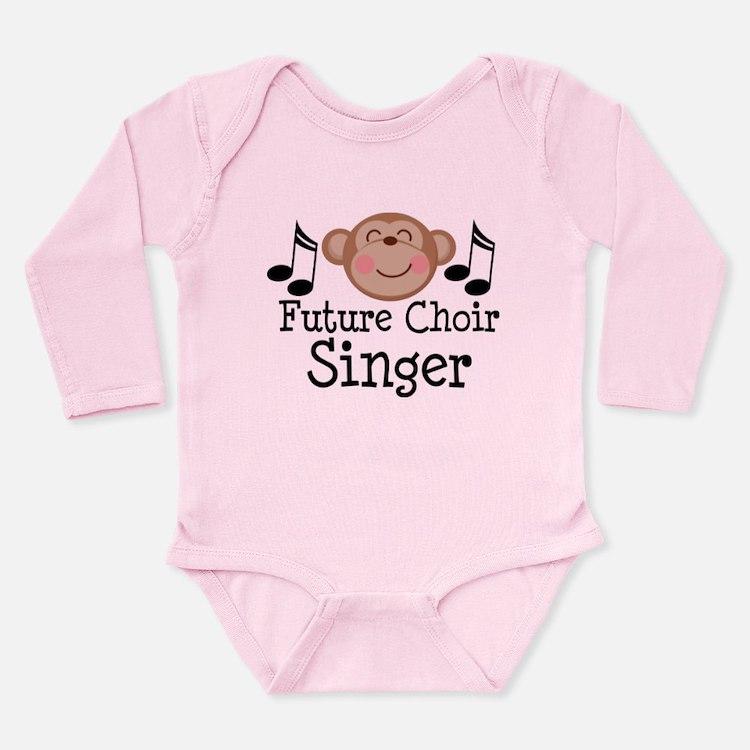 Future Choir Singer Kids Long Sleeve Infant Bodysu