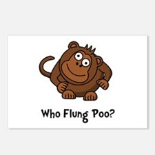 Monkey Flung Poo Postcards (Package of 8)