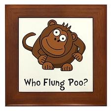Monkey Flung Poo Framed Tile