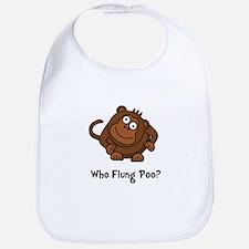 Monkey Flung Poo Bib
