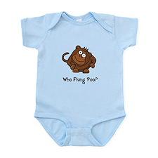 Monkey Flung Poo Infant Bodysuit