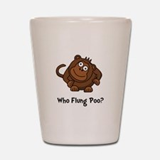 Monkey Flung Poo Shot Glass