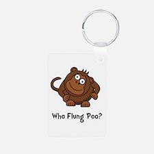 Monkey Flung Poo Keychains