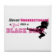 Cute Tae kwon do Tile Coaster