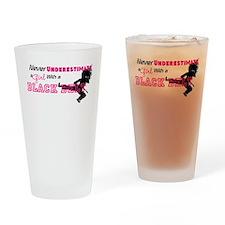 Funny Taekwondo girl Drinking Glass
