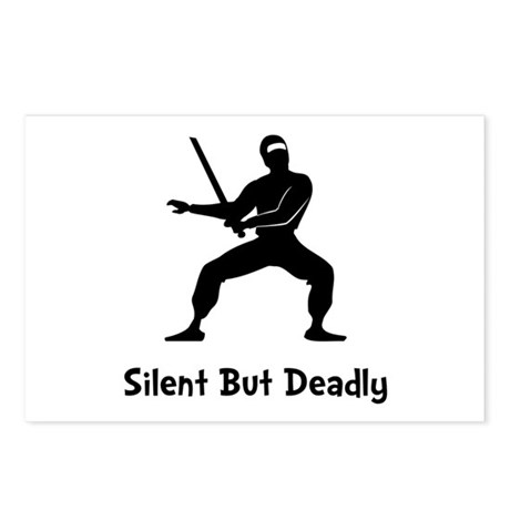 Silent Deadly Ninja Postcards (Package of 8)