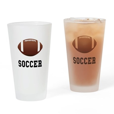 Soccer Football Drinking Glass