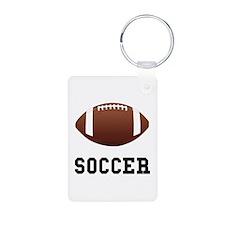 Soccer Football Aluminum Photo Keychain
