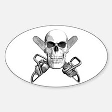Skull and Chainsaws Decal