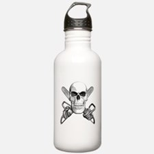 Skull and Chainsaws Water Bottle