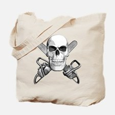 Skull and Chainsaws Tote Bag