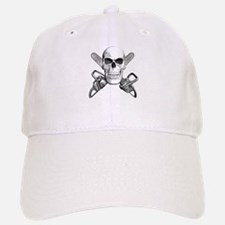Skull and Chainsaws Baseball Baseball Cap