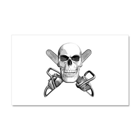 Skull and Chainsaws Car Magnet 20 x 12
