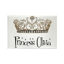 Princess Olivia Rectangle Magnet