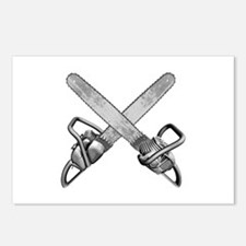 Crossed Chainsaws Postcards (Package of 8)