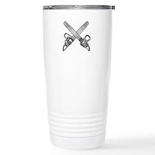 Crossed Chainsaws Travel Coffee Mug