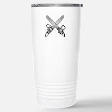 Crossed Chainsaws Travel Mug