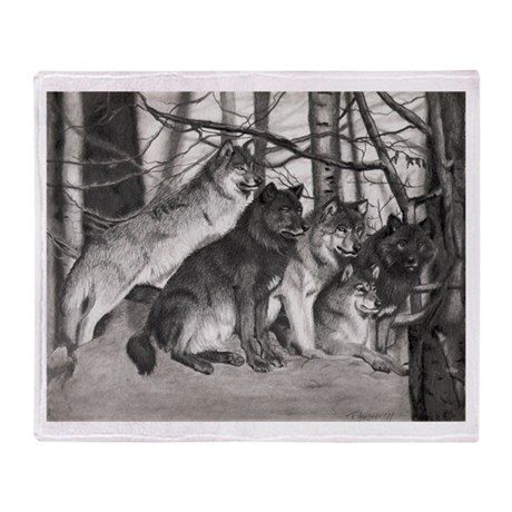 The Watchful One Throw Blanket