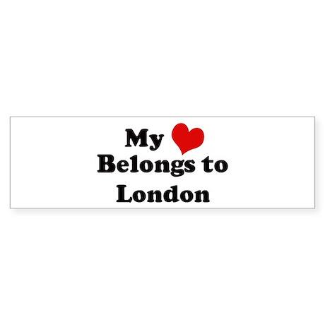 My Heart: London Bumper Sticker