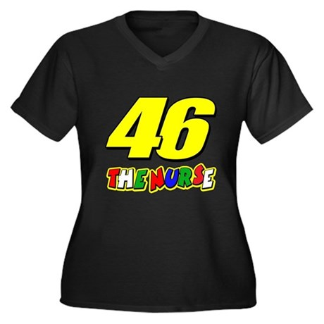 VR46nurse Women's Plus Size V-Neck Dark T-Shirt