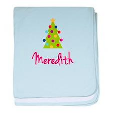 Christmas Tree Meredith baby blanket