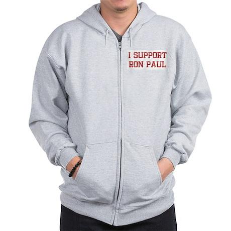 I Support Ron Paul Zip Hoodie