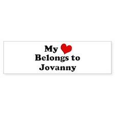 My Heart: Jovanny Bumper Bumper Sticker