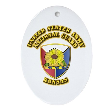 Army National Guard - Kansas Ornament (Oval)