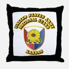 Army National Guard - Kansas Throw Pillow