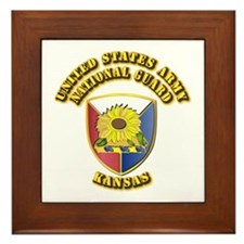 Army National Guard - Kansas Framed Tile