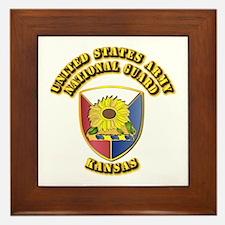 Army National Guard - Kansas Framed Tile