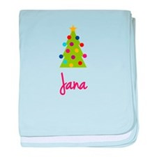 Christmas Tree Jana baby blanket