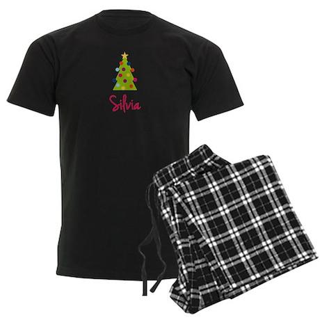 Christmas Tree Silvia Men's Dark Pajamas