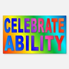 Celebrate Ability Rectangle Decal