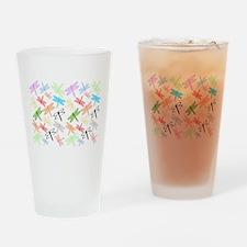 Dragonflies Design Drinking Glass