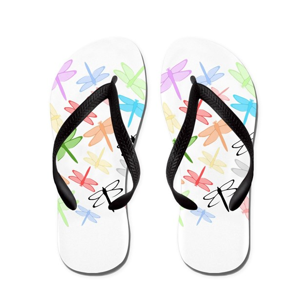 dragonflies design flip flops by dragonflies13