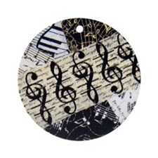 Treble Clef Ornament (Round)