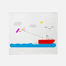 Cute Water skiing Throw Blanket