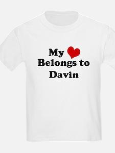 My Heart: Davin Kids T-Shirt