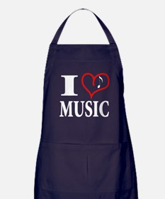 I Love Music Dark Apron