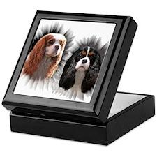Tricolor Blenheim Cavalier Starburst Keepsake Box